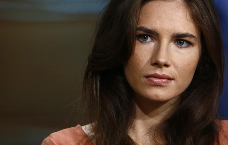 "This image released by NBC shows Amanda Knox during an interview on the ""Today"" show, Friday, Sept. 20, 2013 in New York."