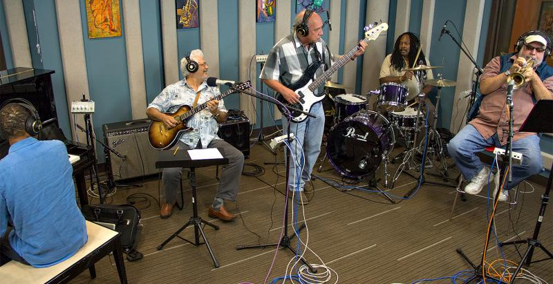 The Eleventh House band perfoming live in the KPLU Seattle Studios