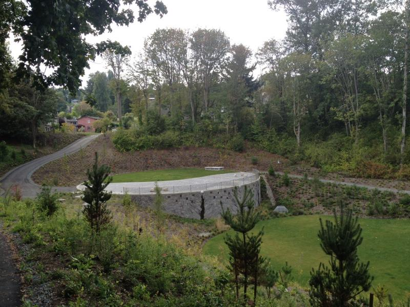 The new stormwater storage tank at Washington Park, near the Arboretum, was Phase 2 of the city's improvement project.