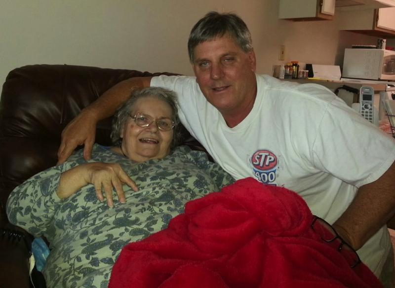 Dan McNuelty, right, and his birth mother, Annalyssa Crinklaw.