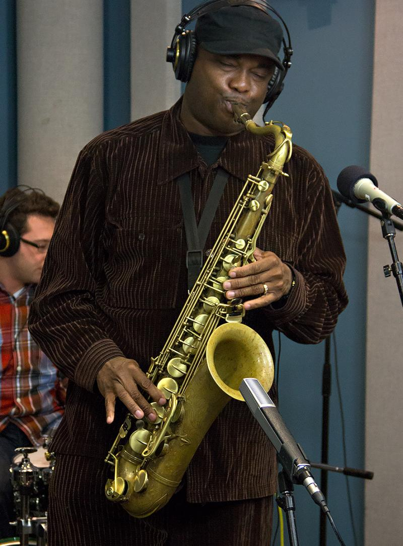 James Carter performing live in the KPLU Seattle Studios on October 11, 2013.