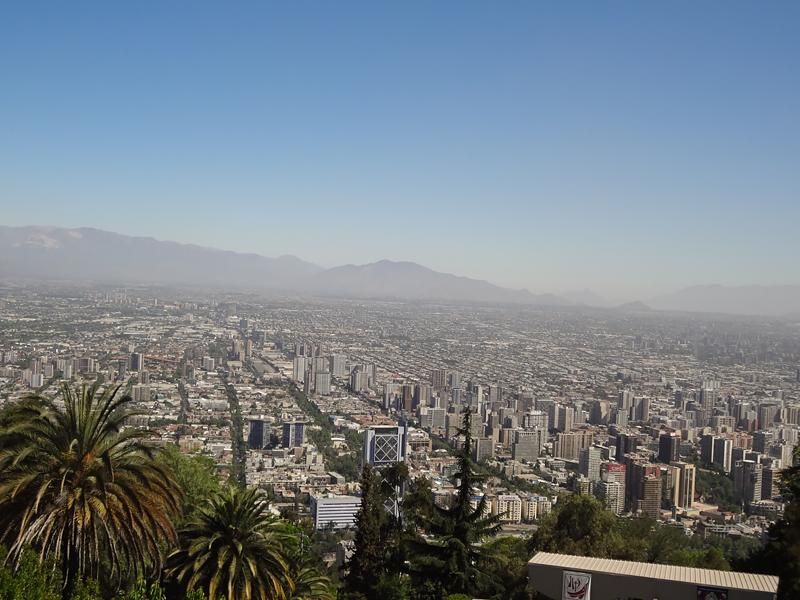 Santiago, Chile from atop Cerro San Cristobal.