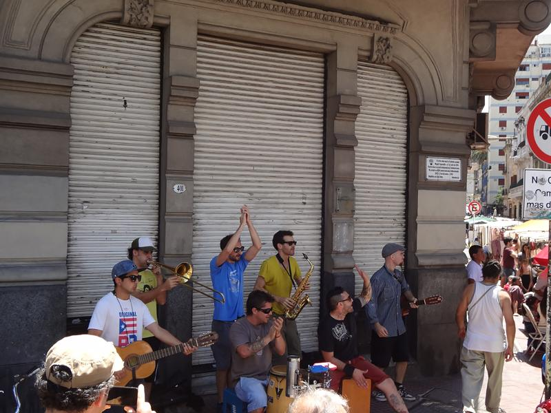 High-energy local band provides the music at the bustling San Telmo Market on our last day in Buenos Aires.
