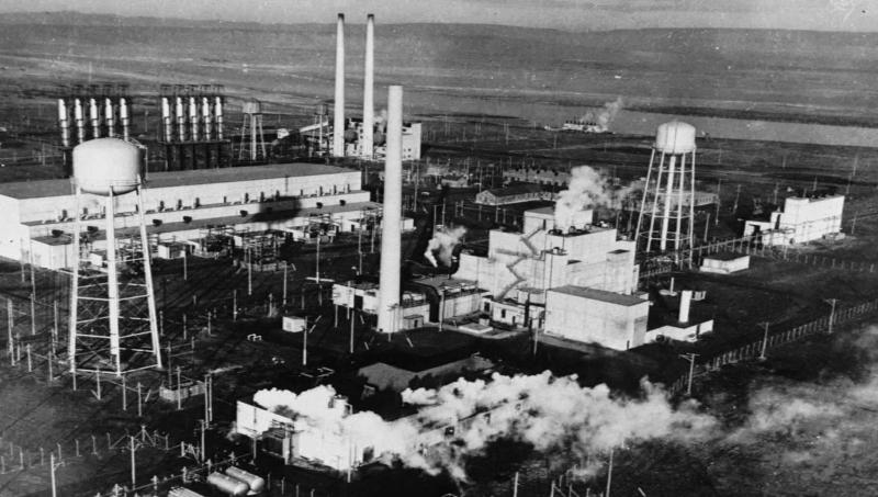 "This is a World War II photo of the historic ""B Reactor"" at Hanford, Wash., which was the world's first plutonium production reactor."