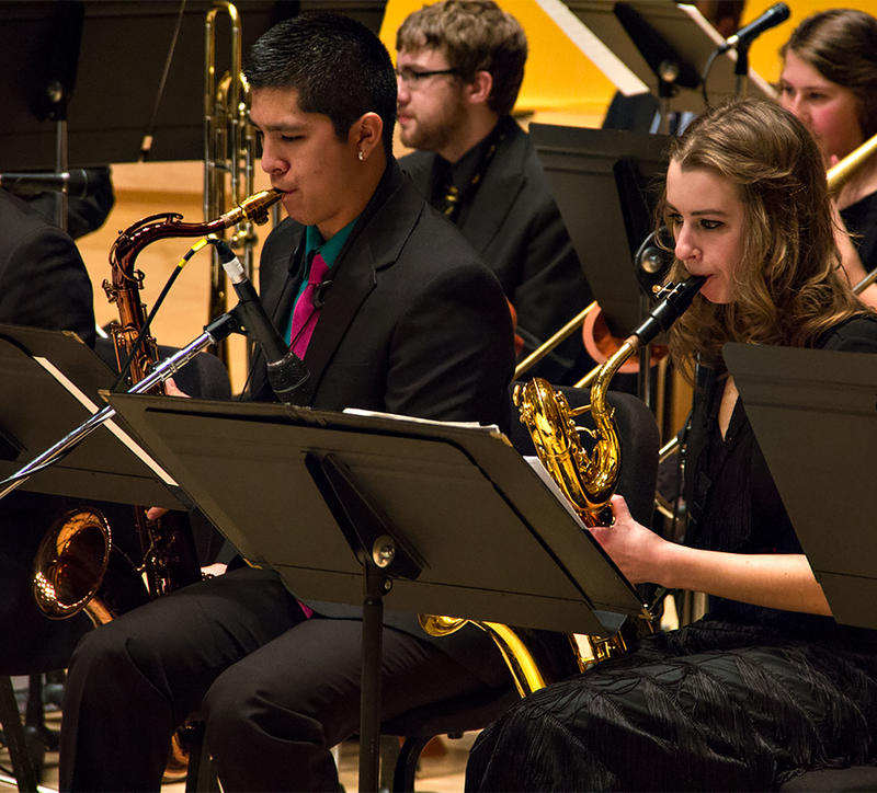 The PLU Jazz Ensemble performing live at the 17th Annual KPLU Christmas Jam.