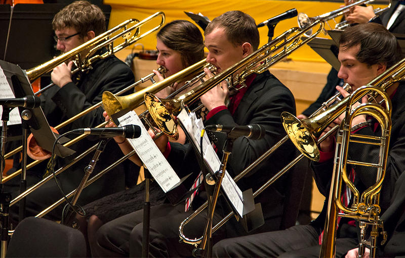 The PLU Jazz Ensemble performing live at the 17th Annual KPLU Christmas Jam.