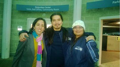 IPNW attorney Fernanda Torres with Brandon Olebar (center) and wife Mely (right)