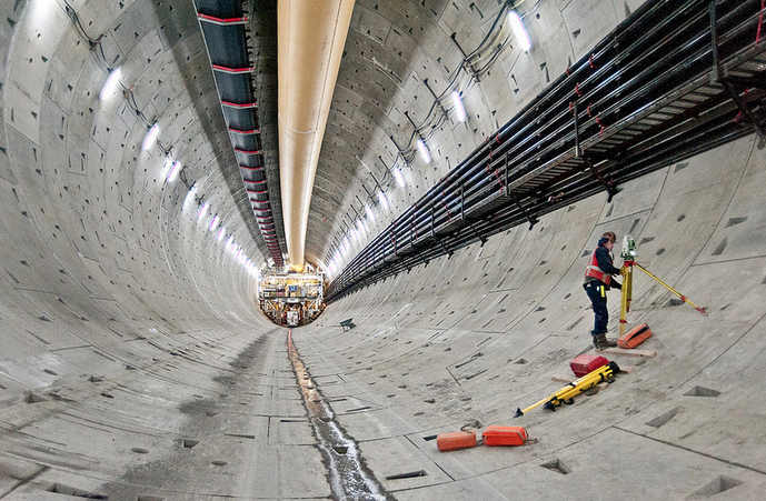 """Survey says, 'This is one big tunnel.""'"