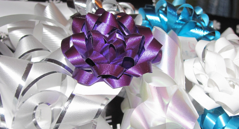 Don't recycle bows and ribbons; save them for next year instead.
