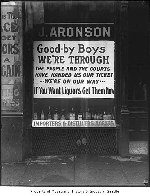 J. Aronson Liquor sign ca. 1916.
