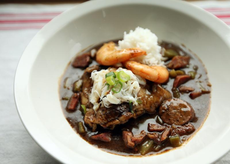 Mac's (okra deficient but otherwise great) gumbo