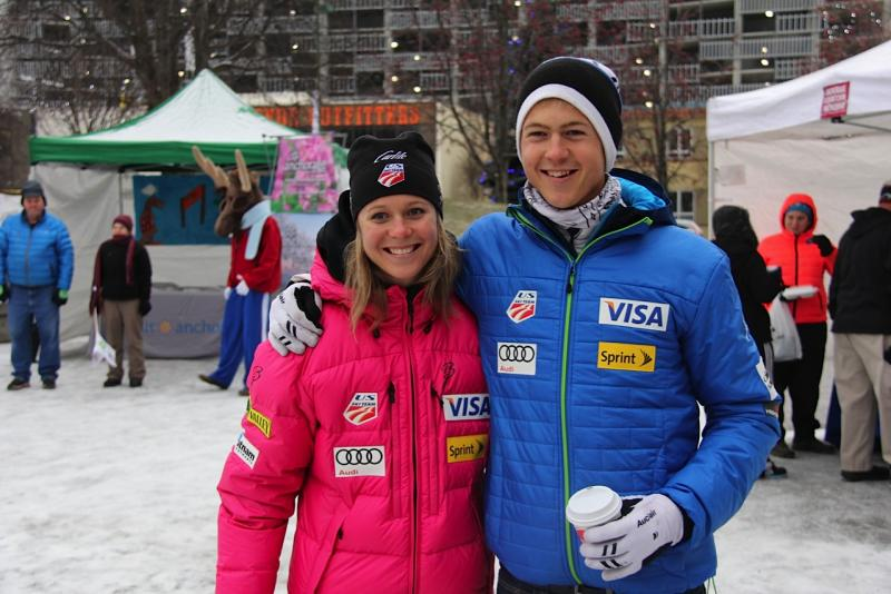 U.S. Ski Team teammates and siblings Sadie and Erik Bjornsen.