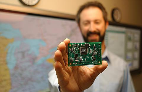 "A grid-friendly appliance controller; this PNNL-developed computer chip can make most household appliances (including water heaters) ""smart."""
