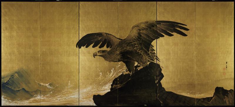 """""""Sound of Waves"""" by Tsuji Kakō."""