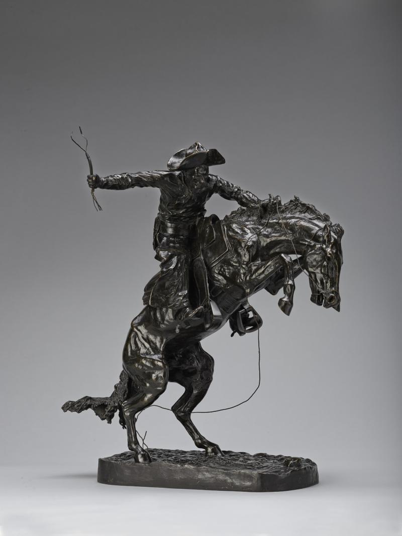 "Denver's bet is ""The Broncho Buster"" by Frederic Remington"
