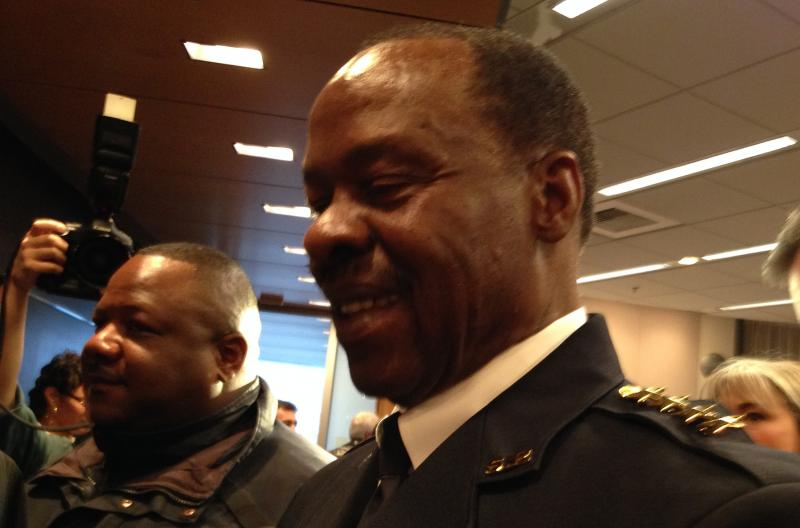 Harry Bailey, right, is Seattle Police Department's new interim chief.
