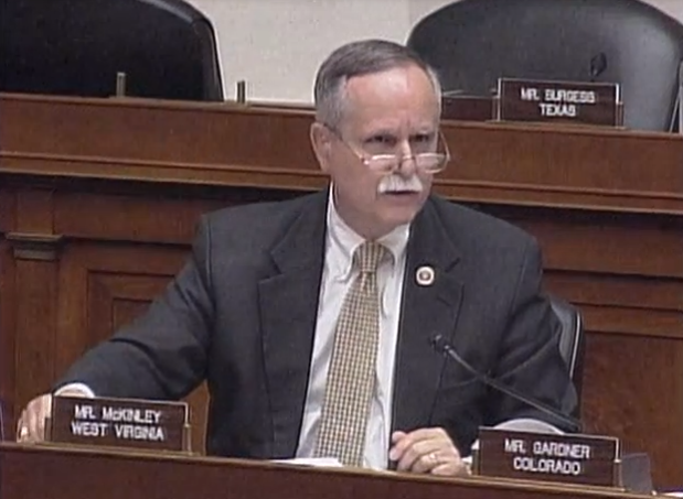 This screen capture shows U.S. Rep. David McKinley, R-West Virginia.