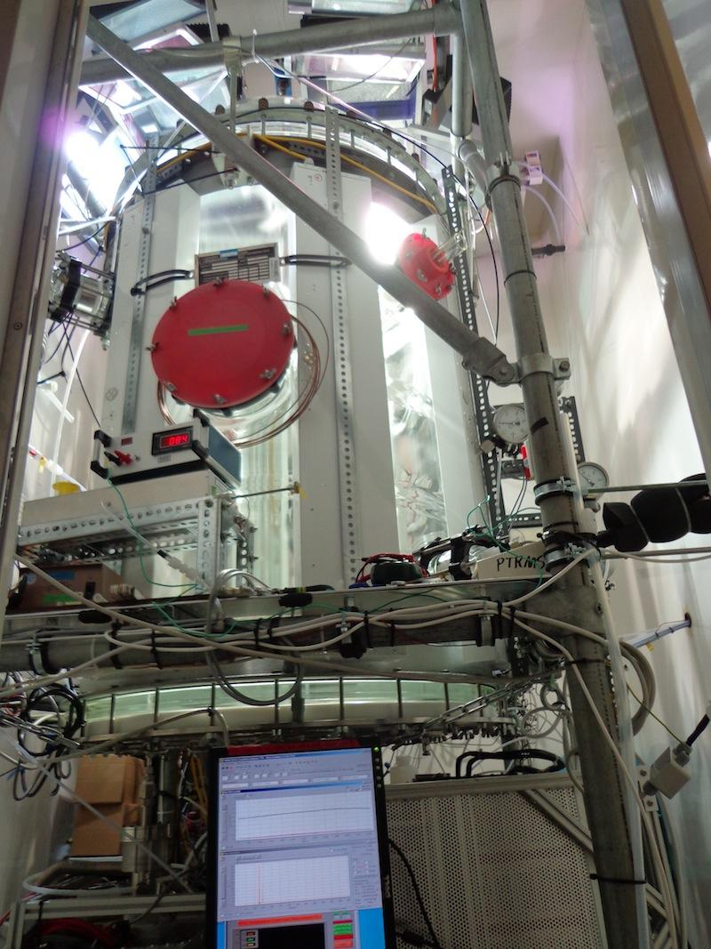 This photo shows the Juelich Plant Atmosphere Chamber.