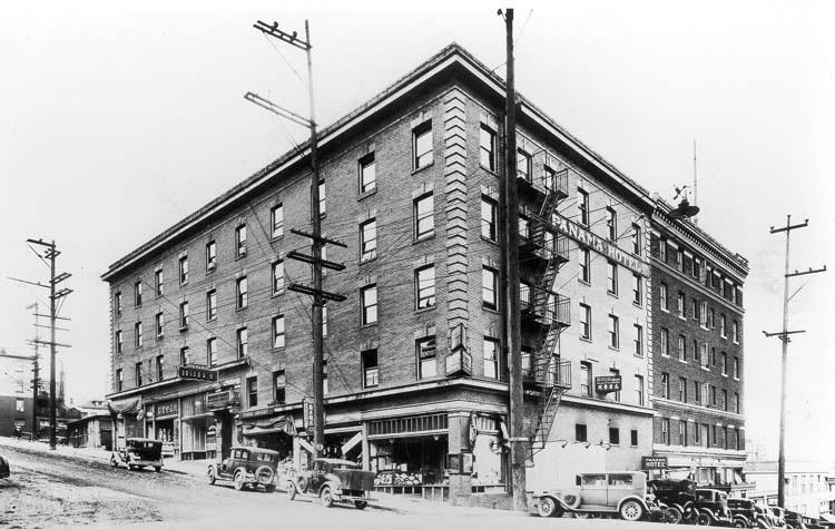 The Panama Hotel in old Japan town, Seattle, c. 1929