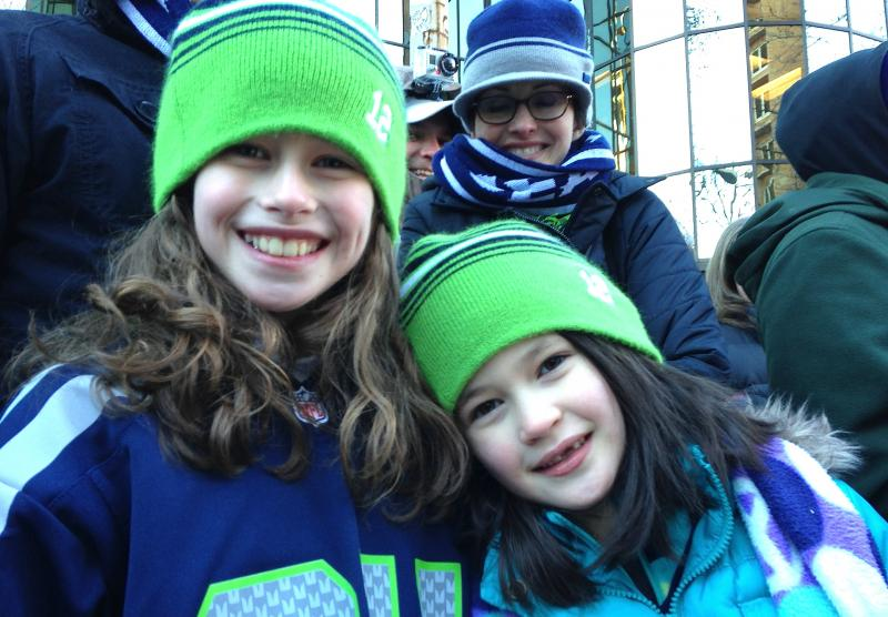 Abby and Kate Jernquist of Auburn attended the parade.