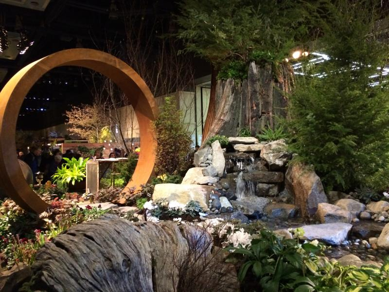 """Natures Studio: Arouse, Evoke, Create, Grow Chill"" is one of 23 show gardens featured this year at the Northwest Flower and Garden Show in downtown Seattle."