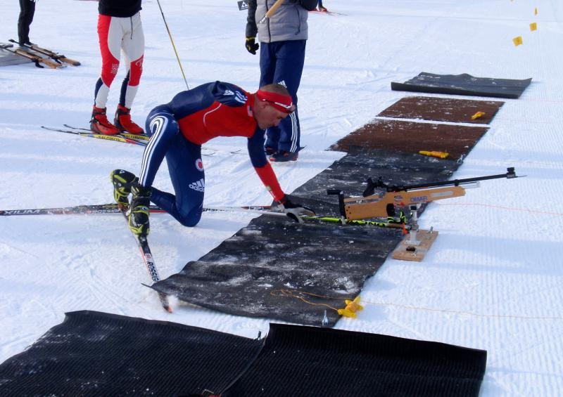 Amputee Omar Bermejo trained for biathlon in Sun Valley, Idaho.