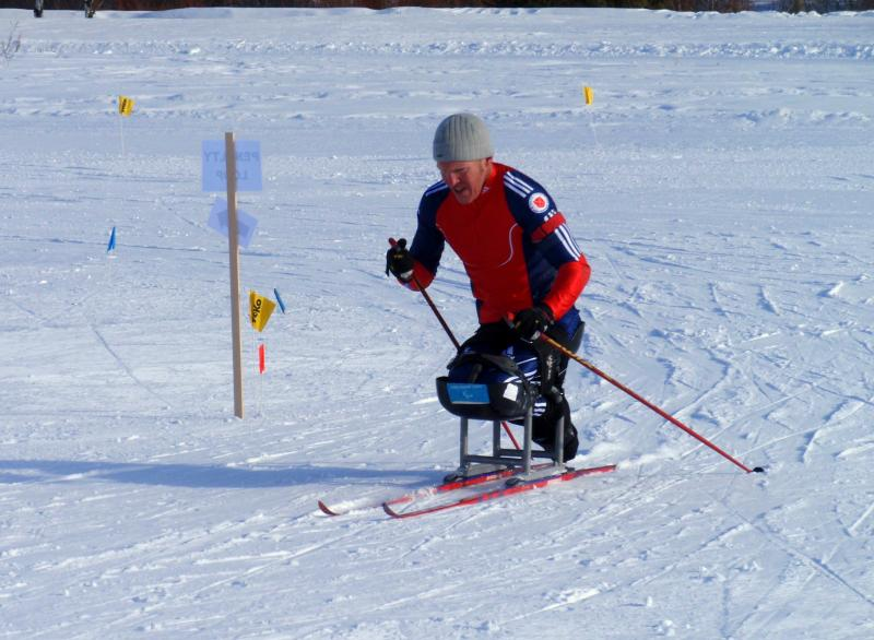 Paralyzed veteran Sean Halsted trained for Sochi in Sun Valley last winter.