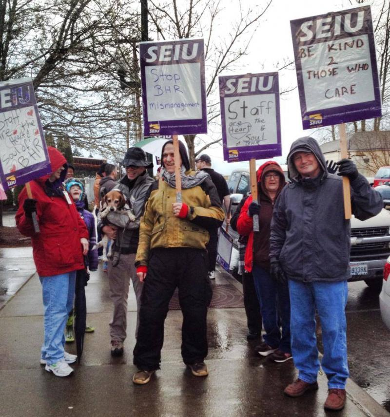 Clinicians are on strike in Olympia, Wash.