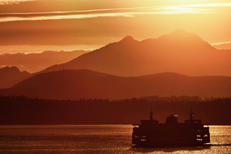 "This March 12, 2014 photo shows ""a tantalizing taste of Spring sunsets arrives in Seattle,"" says photographer Tim Durkan."