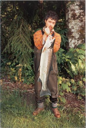 Sean M. Gallagher poses with a Skamania summer-run steelhead caught on a McClead Ugly before the state began clipping the adipose fin on hatchery fish.