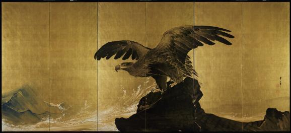 "SAM wagered ""Sound of Waves"" by Tsuji Kakō."