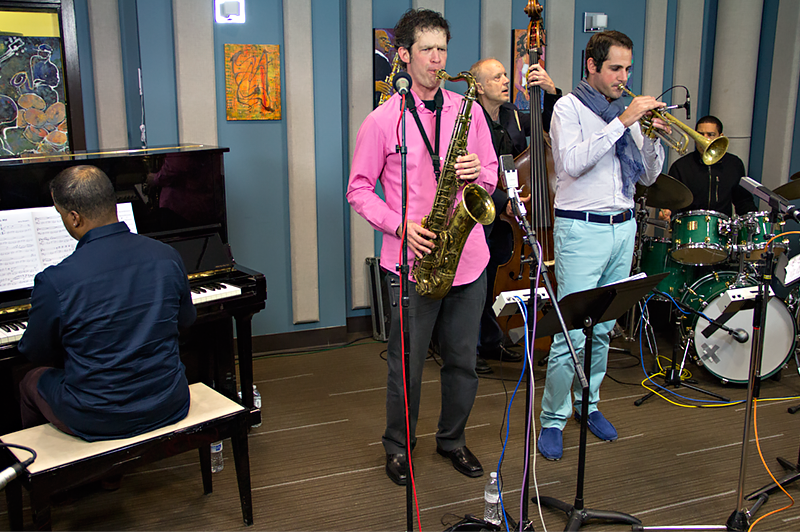 The Anton Schwartz Qunitet performing live in the KPLU Seattle studio on March 11, 2014.