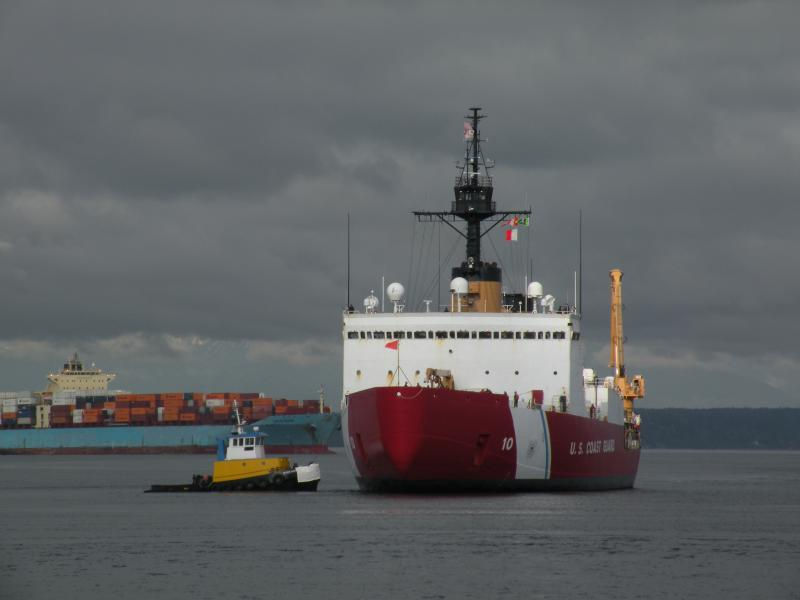 Polar Star arrived at about 10am Friday at the Coast Guard Base in Elliott Bay.