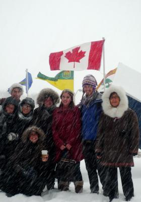 UW and Inuit students in the 2011 Jackson School Task Force on Arctic Sovereignty in Ottawa. Student interest in classes like this prompted the UW to launch an Arctic Studies minor