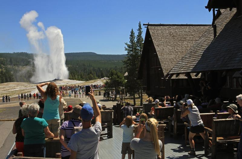Old Faithful Inn is close to the famous geyser, but you should look to next summer if you want to stay here, says our travel expert.