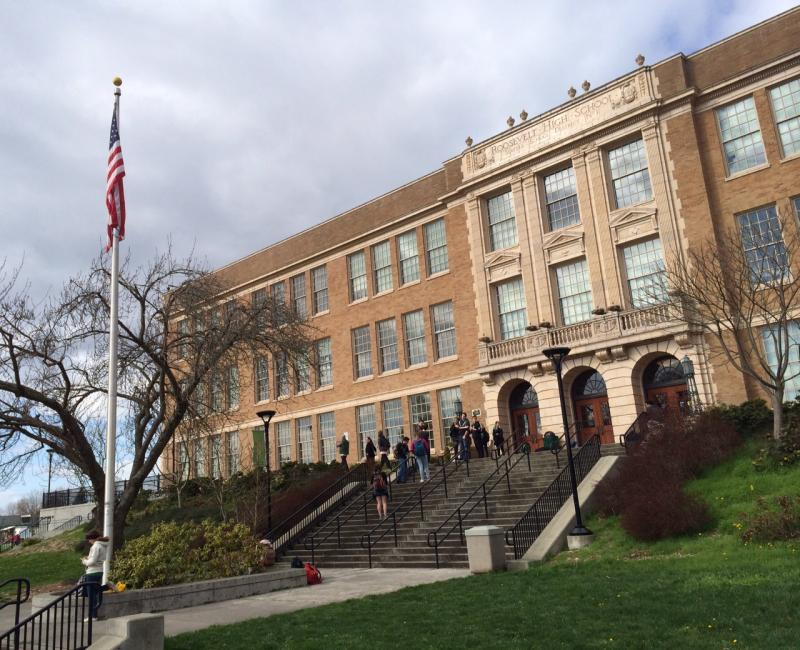 Roosevelt High School in northeast Seattle.