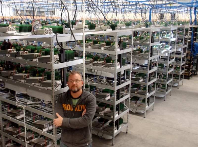 MegaBigPower CEO Dave Carlson inside North America's biggest bitcoin mine.