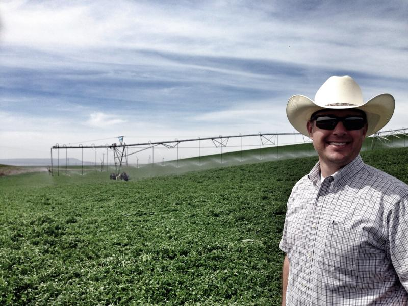 Drex Gauntt grows some of the earliest-harvested alfalfa in the Northwest near Burbank, Wash.