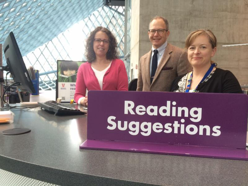 From left to right, Linda Johns, Kirk Blankenship and Heidi Herb of the Seattle Public Library.