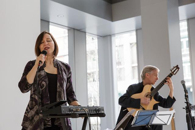 Kendra Shank and John Stowell in concert at Seattle Art Museum.