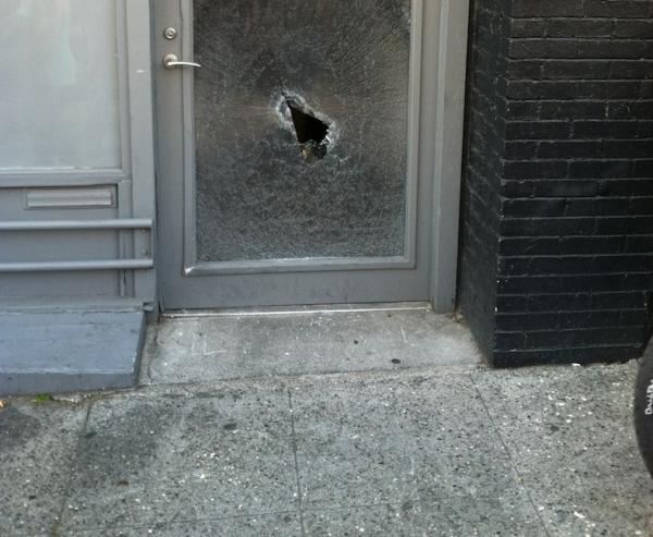 Vandals broke glass during last year's May Day demonstrations.