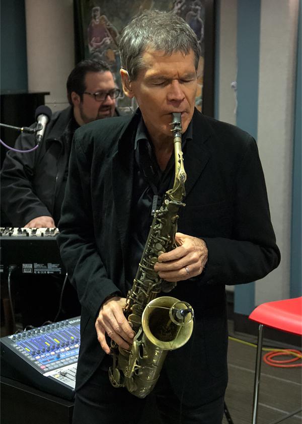 Saxophonist, David Sanborn, performing live at KPLU.