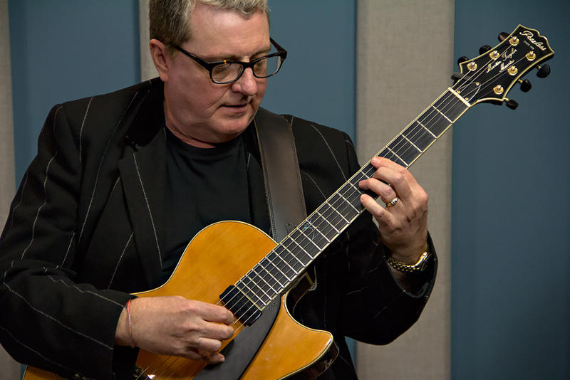 Guitarist, Martin Taylor, performing live in the KPLU Seattle studios.