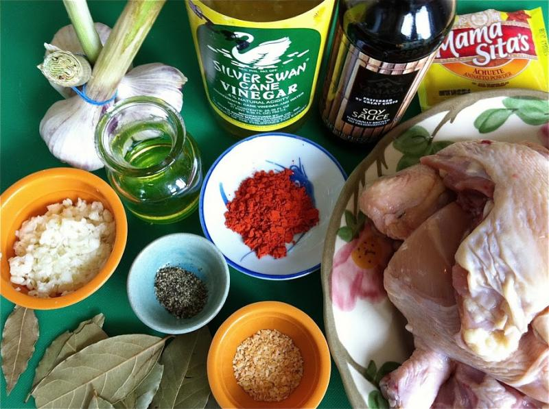 What Nancy calls mise en place for her Chicken Adobo.  I just call it getting organized.
