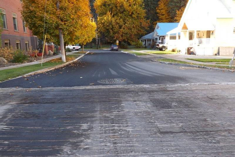 A street in Wallace, Idaho was repaved last fall as part of the Superfund cleanup in the Coeur d'Alene Basin.