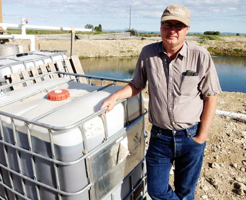 Alan Schreiber is an organic and research farmer. He's testing a new better-smelling organic liquid fertilizer at his farm near Eltopia, Washington.