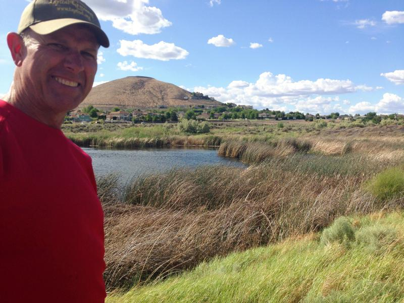 Scott Woodward shows off Amon Creek Natural Preserve in Richland, Washington.
