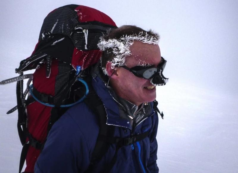 Bruce Stobie is seen on a recent climb to Camp Muir on Mount Rainier.