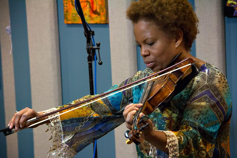 Regina Carter performing live in the KPLU studios.