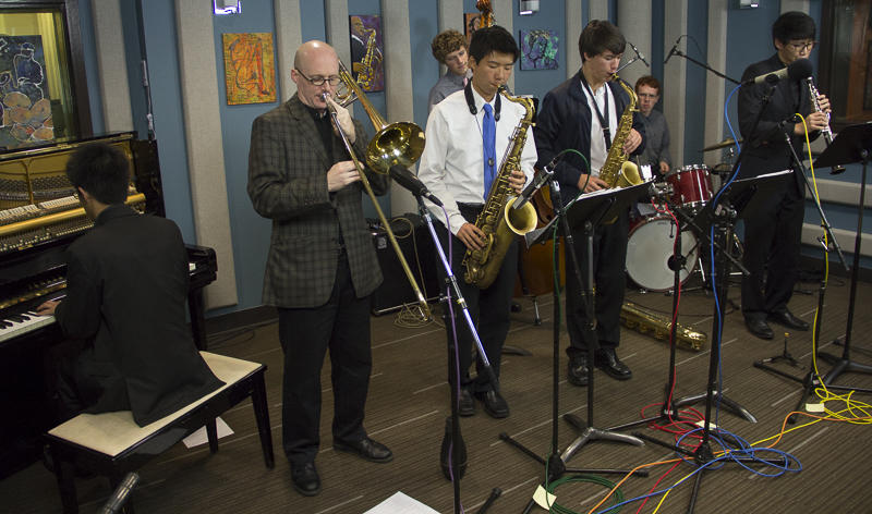 The Bellevue High School Jazz Combo performing live with David Marriott in the KPLU studios.